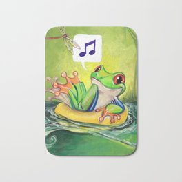 Lazy River Frog Bath Mat