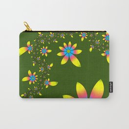 Green Floral Dance Carry-All Pouch