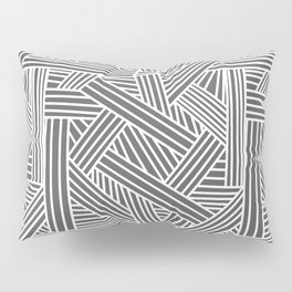 Sketchy Abstract (White & Grey Pattern) Pillow Sham