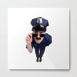 Curious Cop Metal Print