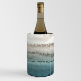 WITHIN THE TIDES - CRASHING WAVES TEAL Wine Chiller
