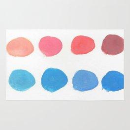 Designer Paint Sample Dots Rug