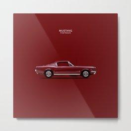 Mustang Fastback. Metal Print