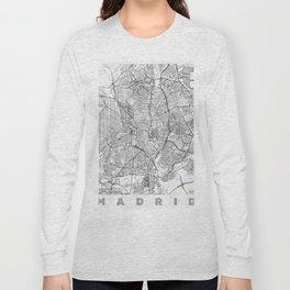Madrid Map Line Long Sleeve T-shirt