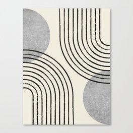 Sun Arch Double - Grey Canvas Print
