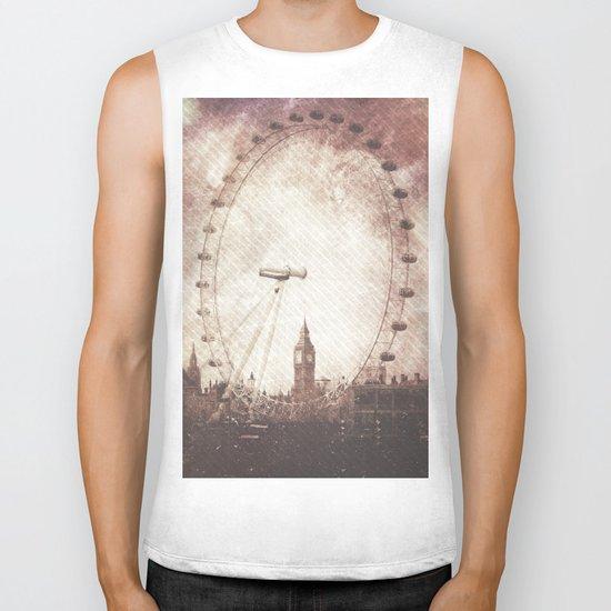 Big Ben in the Eye of London Biker Tank