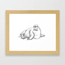 Walrus Framed Art Print