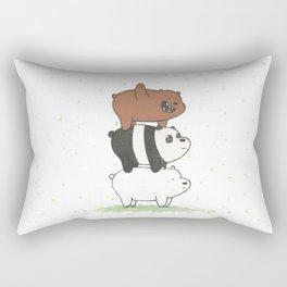 We Bare Bears by Maria Piedra Rectangular Pillow