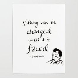 James Baldwin Motivational Quote Poster