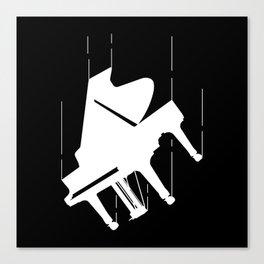 Falling Piano Canvas Print