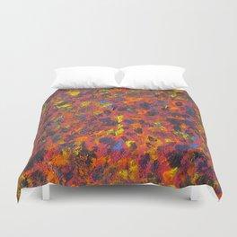 Autumn Colors Splatter Painting Duvet Cover
