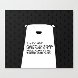 Polar bear rain drops Canvas Print