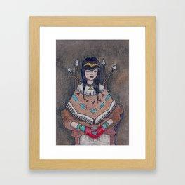 Huntress of the Forest Framed Art Print
