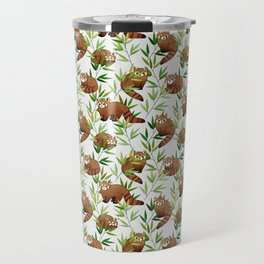 Red Panda Pattern Travel Mug
