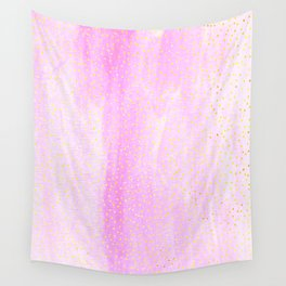 pink pastel with golden dots Wall Tapestry
