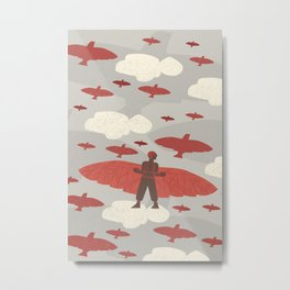 Otto and the Birds Metal Print