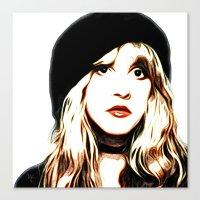 stevie nicks Canvas Prints featuring Stevie Nicks - Rhiannon - Pop Art by William Cuccio aka WCSmack