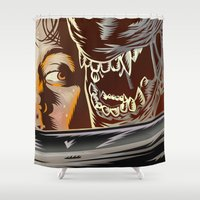 movie poster Shower Curtains featuring Alien - Movie  Poster by Francesco Dibattista