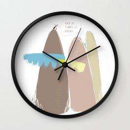 And at times it rains Wall Clock