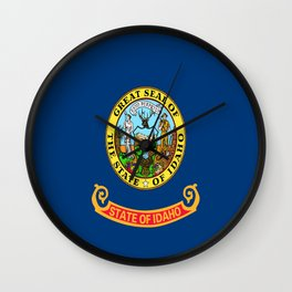 flag idaho,america,usa,west,Idahoan, gem state,Boise,countryside,nampa,pocatello. Wall Clock