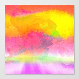 Colorful Watercolor Abstract Canvas Print