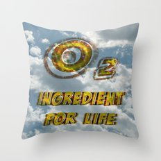 Oxygen Ingredient for Life Throw Pillow