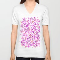 confetti V-neck T-shirts featuring confetti  by Ariadne