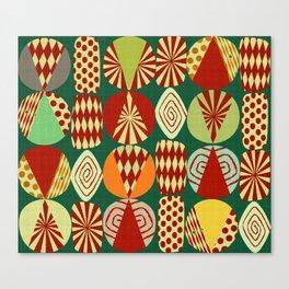Christmas tree Minimalist green Canvas Print