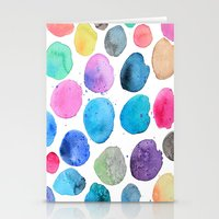 craftberrybush Stationery Cards featuring watercolor blobs by craftberrybush