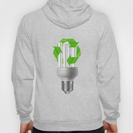 Energy saving bulb with recycle sign Hoody