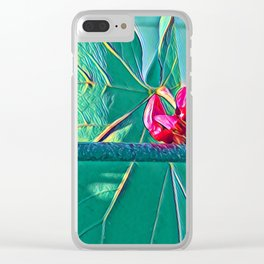 Pink Buds on a Branch - Breaking the Boredom Clear iPhone Case