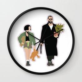Leon the professional movie flat art Wall Clock