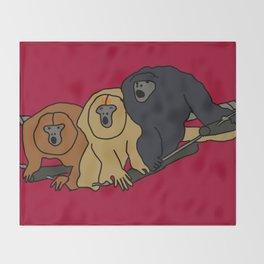 Howler Monkeys Throw Blanket