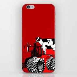 stolen tractor and cow iPhone Skin