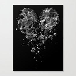 smoke broken heart Canvas Print