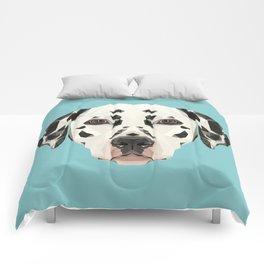 Dalmatian // Blue Comforters