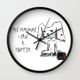 This morning I saw a hunter Wall Clock