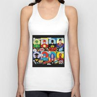 superheroes Tank Tops featuring Superheroes by Chicca Besso
