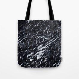 Real Marble Black Tote Bag