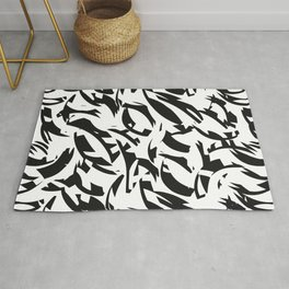 addicted to black & white Rug