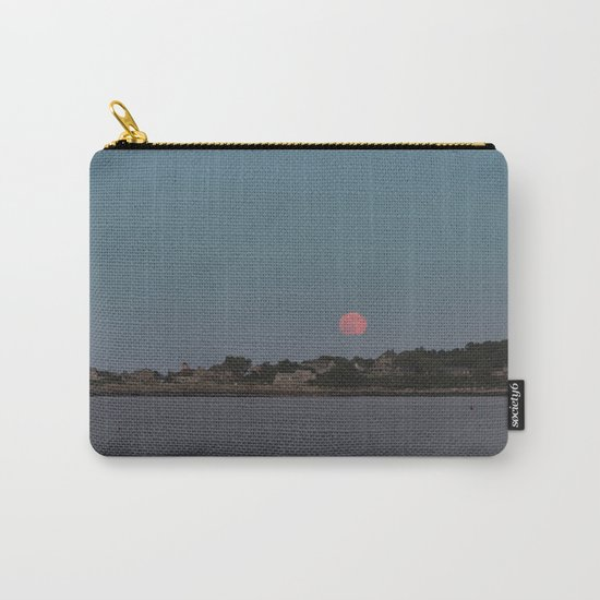 Full Strawberry Moon Rising over Rockport Carry-All Pouch