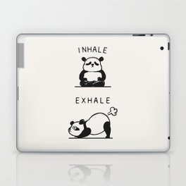 Inhale Exhale Panda Laptop & iPad Skin