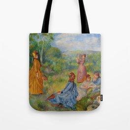 """Auguste Renoir """"Jeunes filles jouant au volant"""" Tote Bag"""