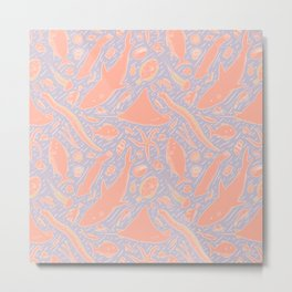 Sea Shapes (Pastel) Metal Print
