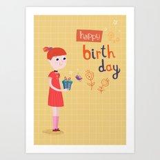 A birthday present Art Print