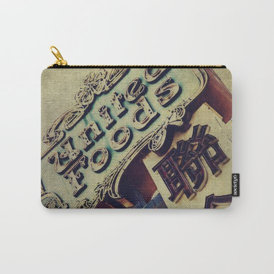 United Foods Neon Sign, Chinatown Carry-All Pouch