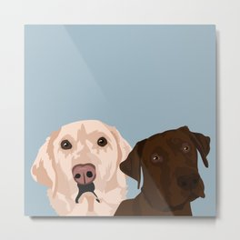 2 Labradors Metal Print