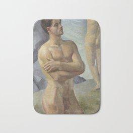 Bathing Men by Georg Pauli Bath Mat