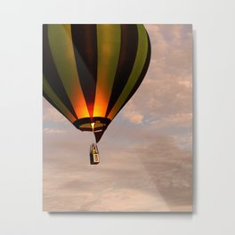 Hot air balloon rising Metal Print