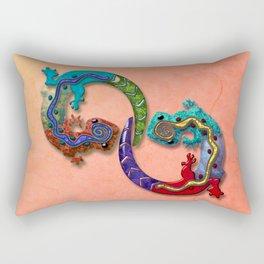 Techno Geckos Rectangular Pillow